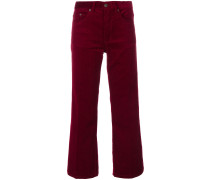 corduroy cropped trousers