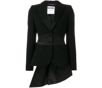 asymmetric bow detail blazer
