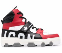 Icon colour-block high-top sneakers