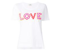 'Love' T-Shirt mit Nieten-Applikationen