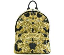 Baroque printed backpack