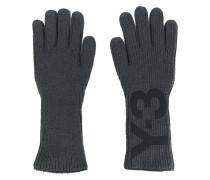 logo print gloves