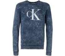 Ausgewaschenes Sweatshirt mit Logo-Print