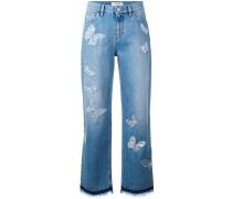 Boyfriend-Jeans mit Schmetterlingen - women