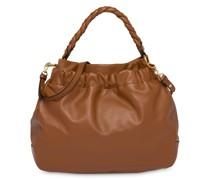 Handtasche mit geflochtenen Henkeln