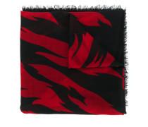large flame print scarf