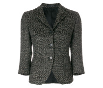 textured fitted blazer