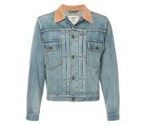 contrast collar denim jacket
