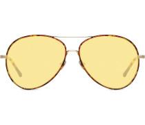 Pilotenbrille mit Muschel-Print