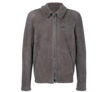 welt pockets zipped jacket