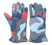 Handschuhe mit Camouflage-Print