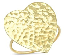 18kt Gelbgoldring in Herzform