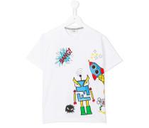 T-Shirt mit Space-Print - kids - Baumwolle - 10