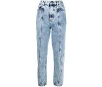Cropped-Jeans mit Bleach-Effekt