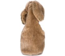 Bow faux-fur shoulder bag