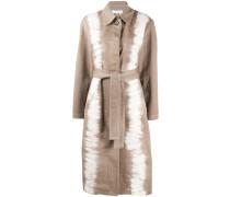 Einreihiger Mantel im Batik-Look