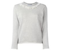 Sweatshirt mit Perlenstickerei
