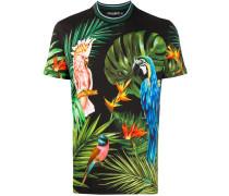 T-Shirt mit Papagei-Print