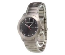 'P10 Black' analog watch