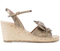 Espadrille-Sandalen mit Keilabsatz