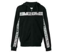 logo zip up sweatshirt