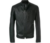 zip pocket biker jacket