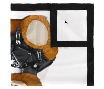 biker teddy bear print scarf