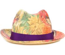 Hut mit floralem Muster