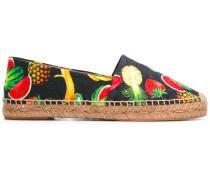 Espadrilles mit tropischem Print