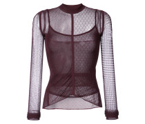 lace and net detailed top