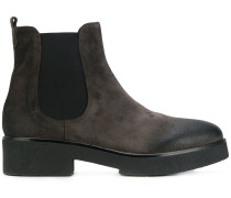worn-effect ankle boots