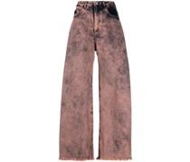 Weite Jeans mit Acid-Wash-Effekt