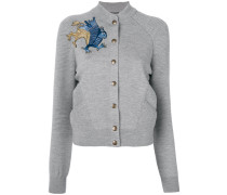 embroidered griffin cardigan