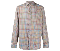 checked button-up shirt
