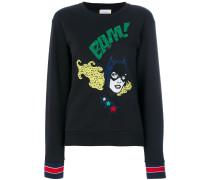 Sweatshirt mit Comic-Stickerei