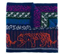 Intarsien-Schal mit Tigermotiv
