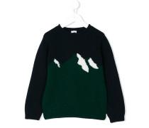 Wollpullover mit Bergspitzen-Motiv