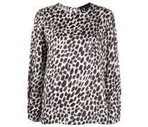 Bluse mit Leoparden-Print
