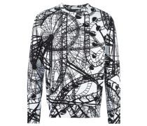 Sweatshirt mit Achterbahn-Print