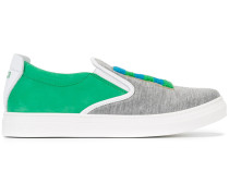 Slip-On-Sneakers mit Logo-Patch - kids