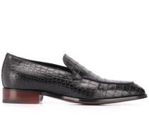 Loafer mit Kroko-Optik