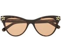 Cat-Eye-Sonnenbrille mit Sternen