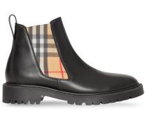 Chelsea-Boots mit Vintage-Check