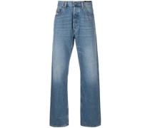 Ausgeblichene Baggy-Jeans