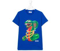 snake print T-shirt