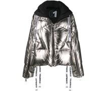 Gefütterte 'Khris' Jacke in Metallic-Optik