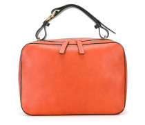 Kastige Handtasche mit Reißverschluss
