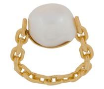 Ring in Kettenoptik mit Perle