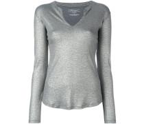 Henley-Shirt mit Metallic-Effekt