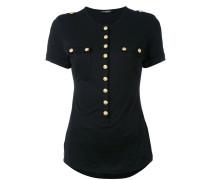 - Geknöpftes T-Shirt - women - Baumwolle - 42